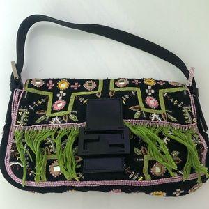 Aut Vintage FENDI Baguette Beads Embroidery Bag